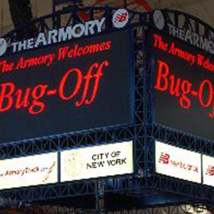 bug off pest control center on the jumbo tron